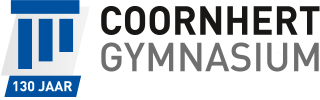 This image has an empty alt attribute; its file name is logo_coornhert-gymnasium-lustrum130.png